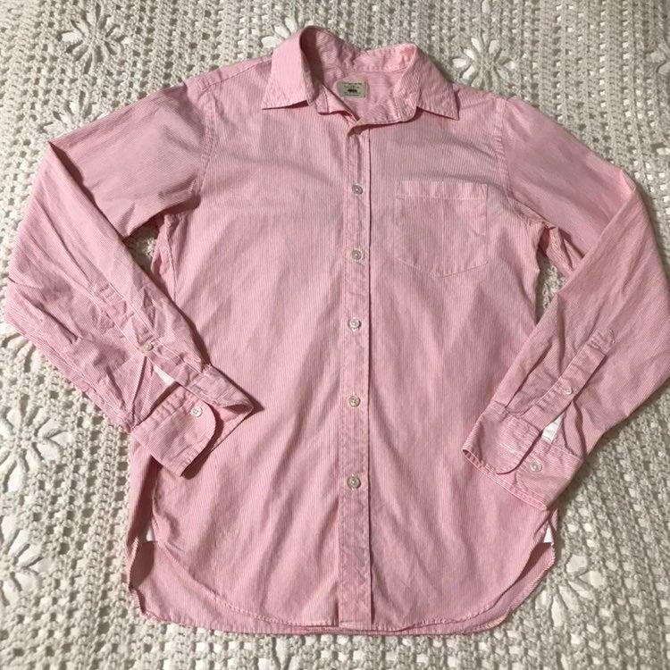 J. Crew Classic Striped Button Down Shir