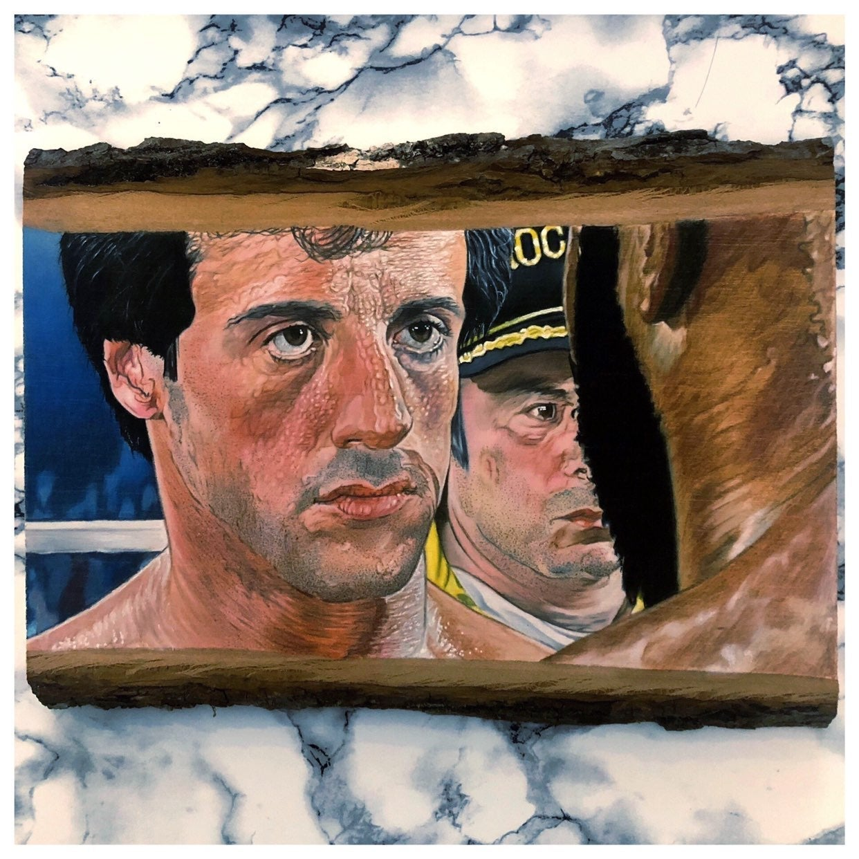 Rocky balboa color pencil drawing