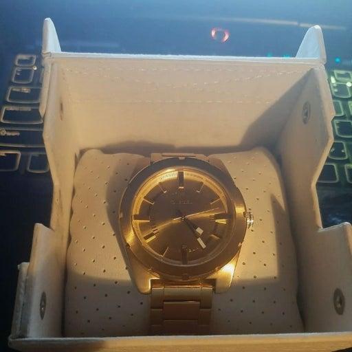 Men's diesel watch 24k gold plated