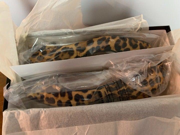 J.Crew Flats Leopard Calf Hair 9.5