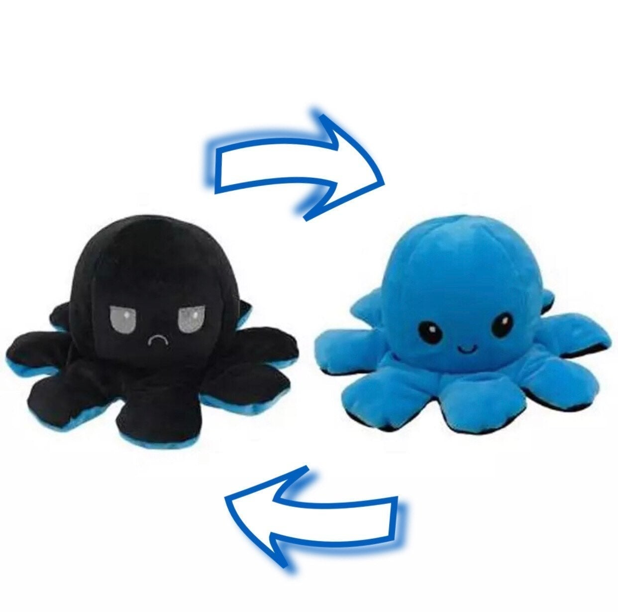 2 in 1 blue reversible octopus