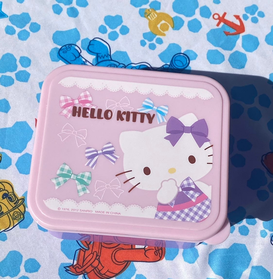Hello Kitty Sanrio Pink Purple Lunchbox