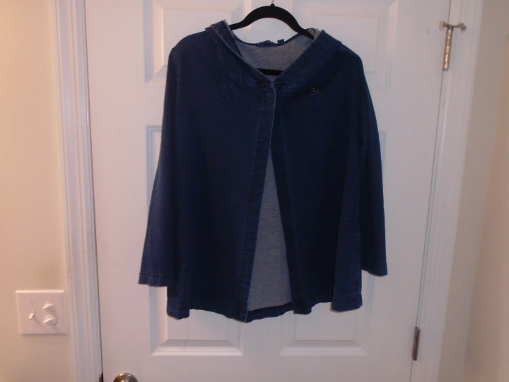 Purejill. light weight denim hoodie sz M