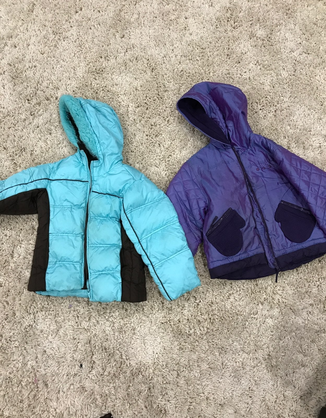 Girls jackets size 5/6 and 6