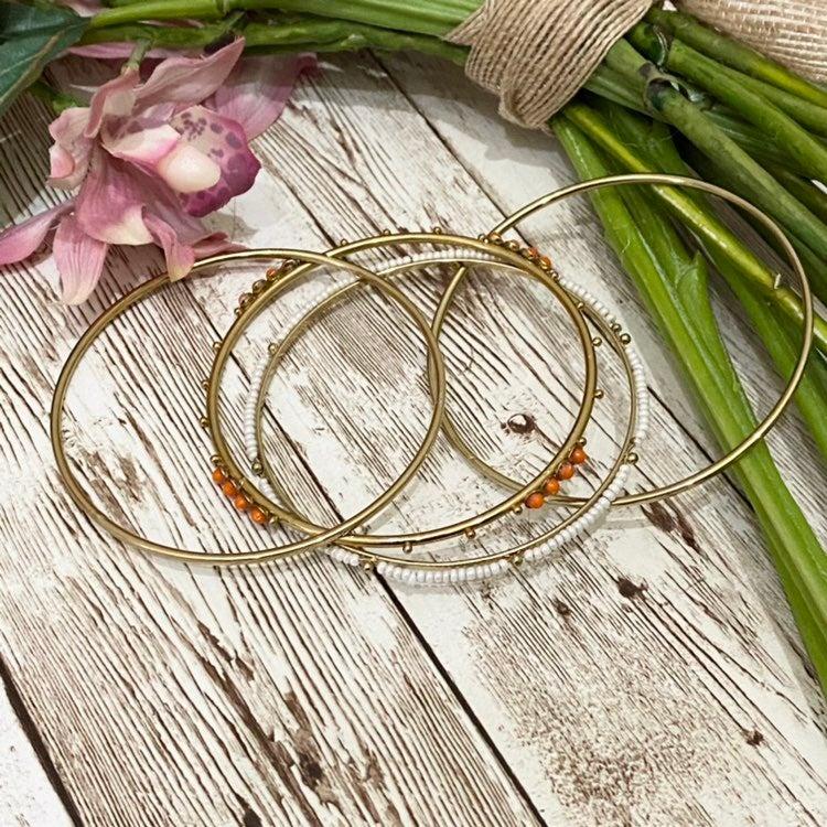 Gold tone 4-pc Bangle Bracelet Set