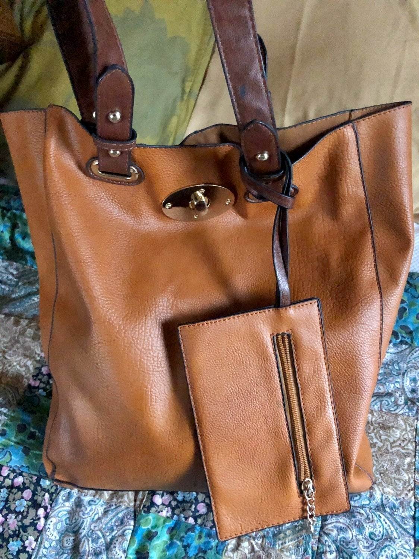 Vegan Tote Handbag Combo 2 Pieces
