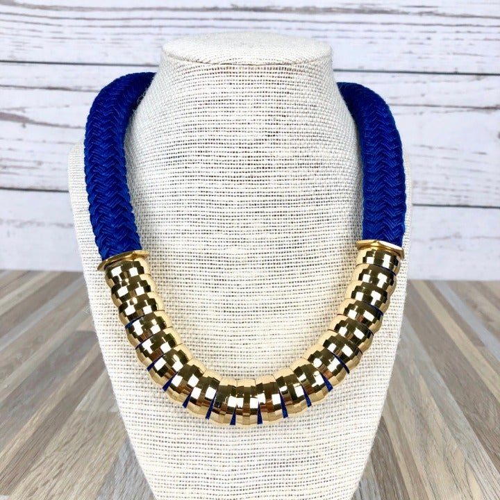 Holst + Lee Blue Classic Rope Necklace