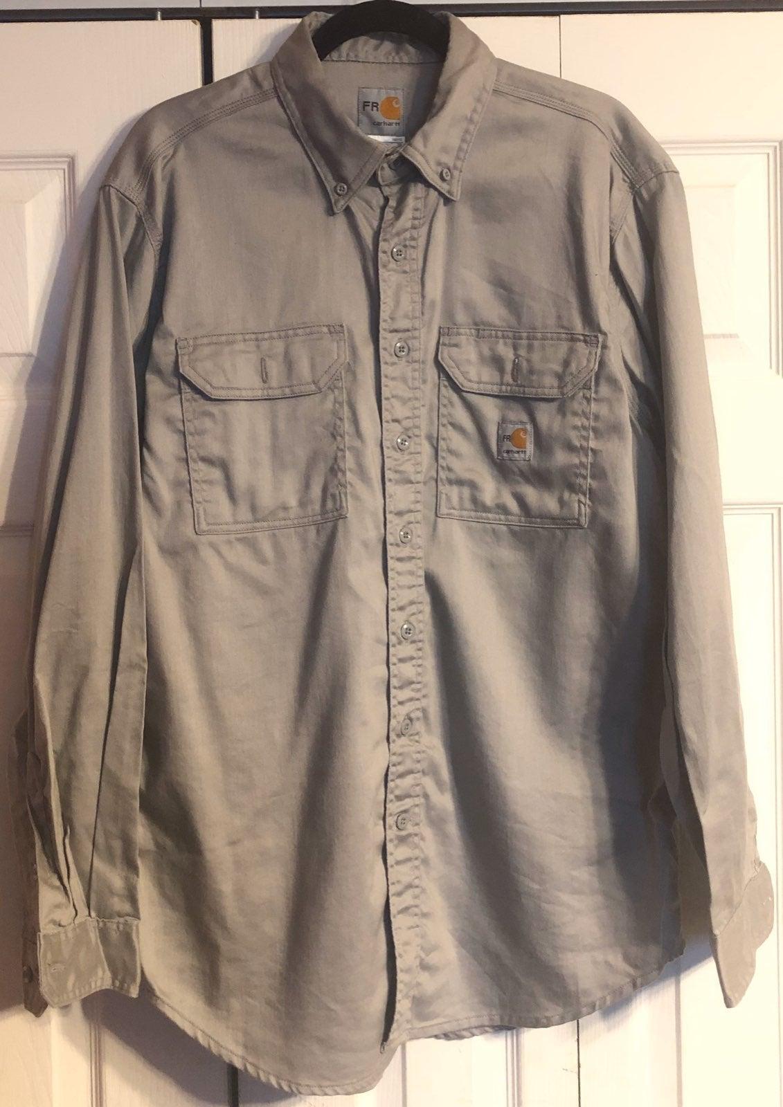 Carhartt Men's Flame Resistant Shirt, L