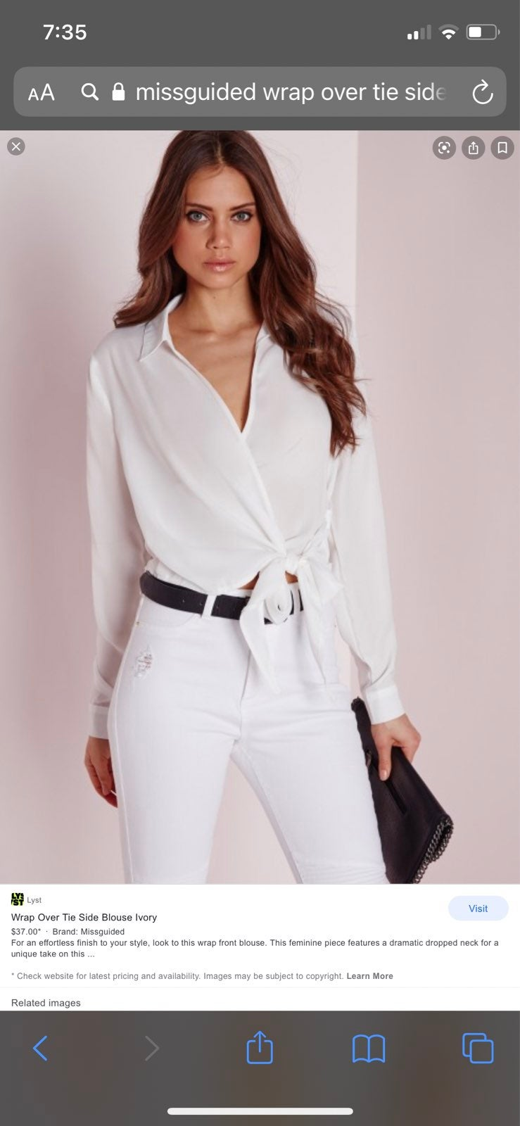 Missguided white blouse