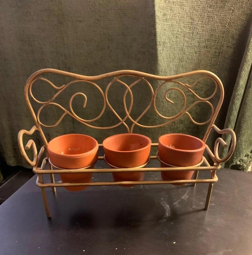 3 Mini Pot Holder Bench