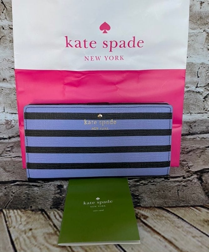 Kate Spade New York Striped Wallet NEW