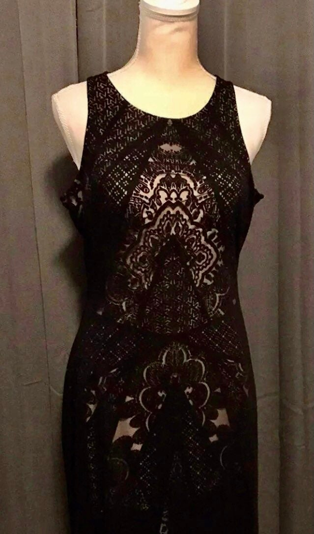 Black layer bodycon dress