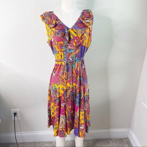 Lauren Ralph Lauren paisley ruffle dress