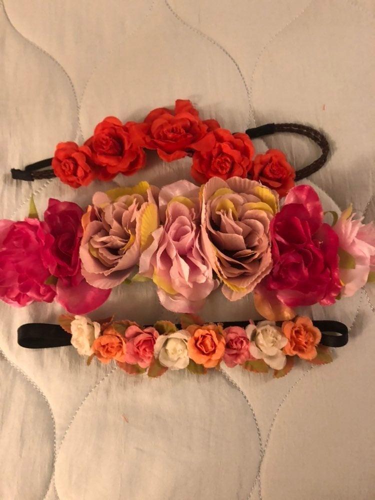 Floral headbands head pieces
