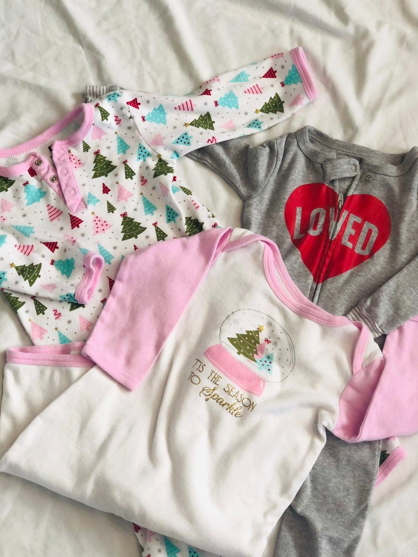 Baby girl Long rompers or pajamas bundle