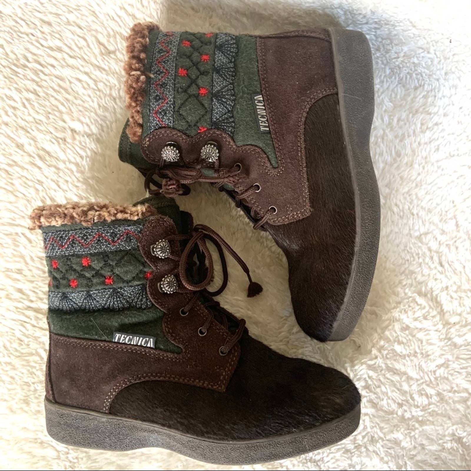 Tecnica vintage boots flat lace up  6