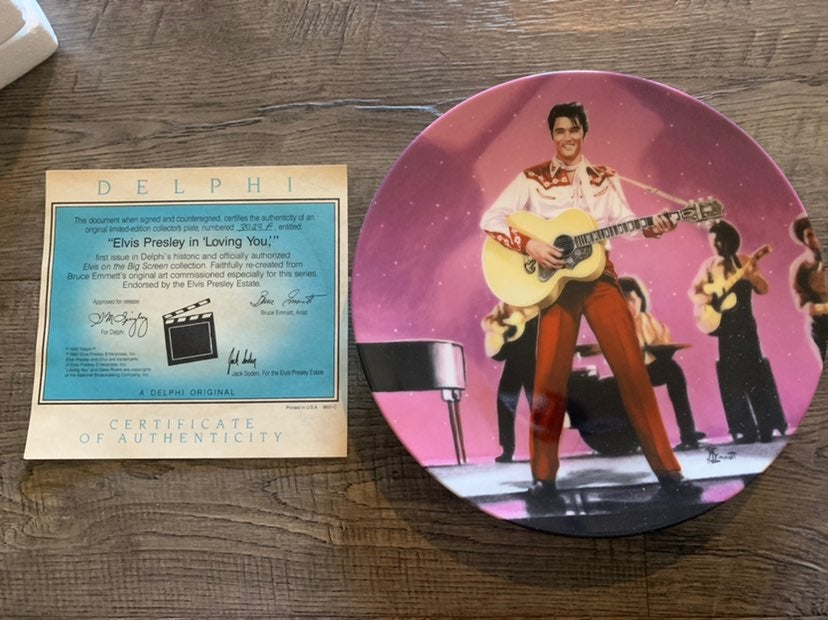 Elvis Loving You Delphi Plate