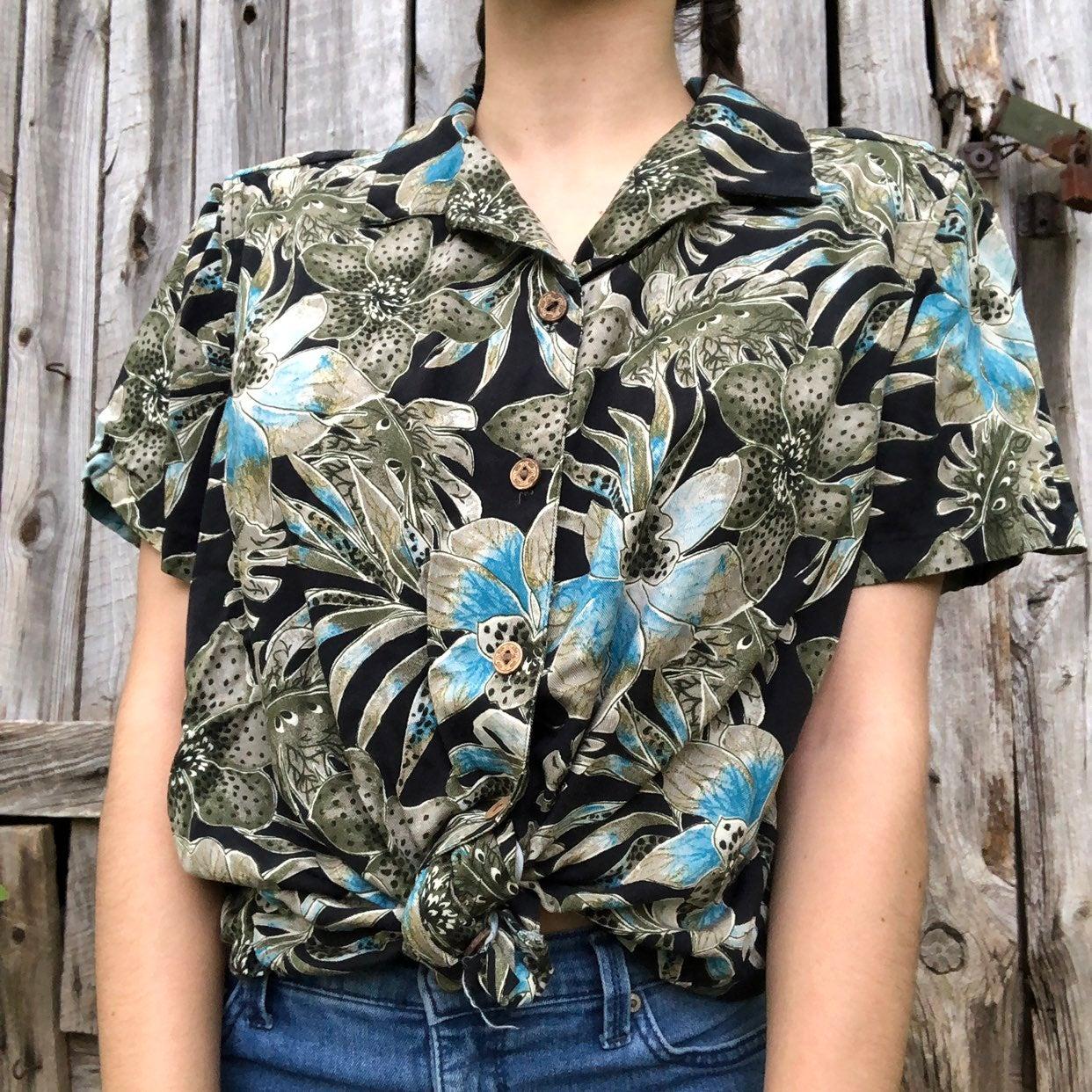 Colorful Green Hawaiian Shirt