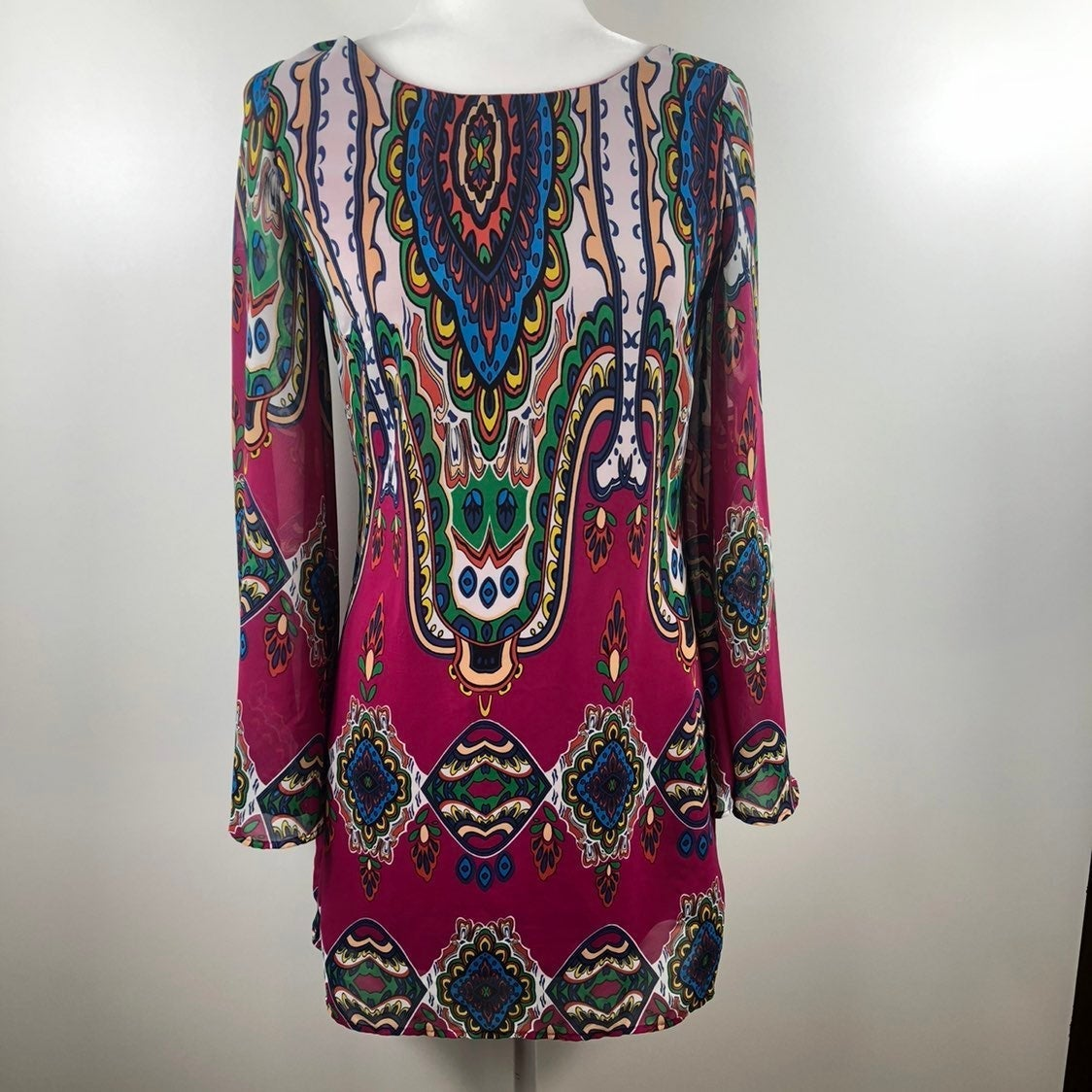 Pink Owl Casual Tunic Dress