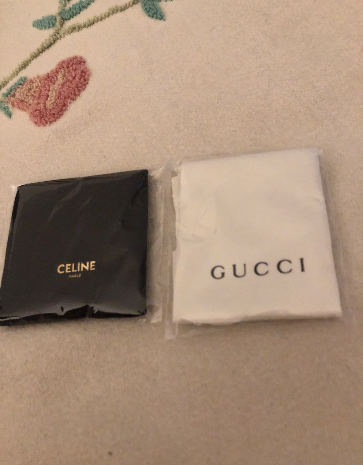 Gucci Celine cleaning cloths for eyeglas