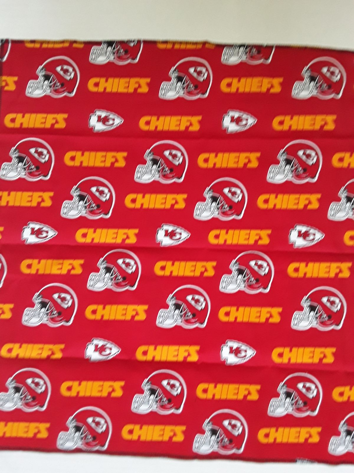"By-the-Yard Kansas City Chiefs 58""wide"
