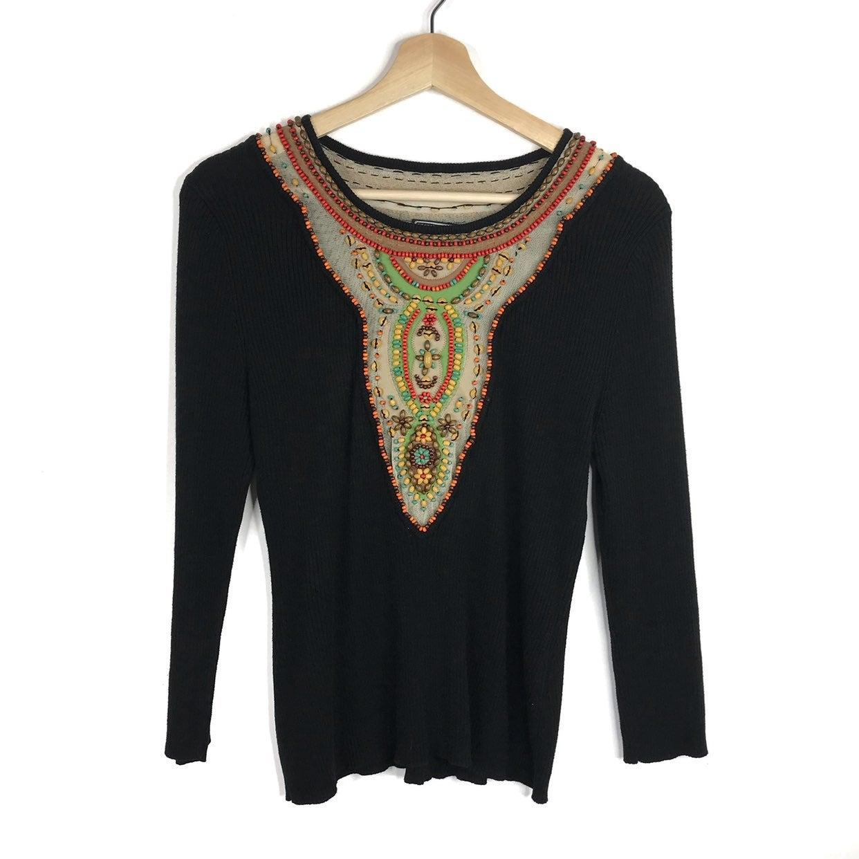Berek Beaded Long Sleeve Sweater
