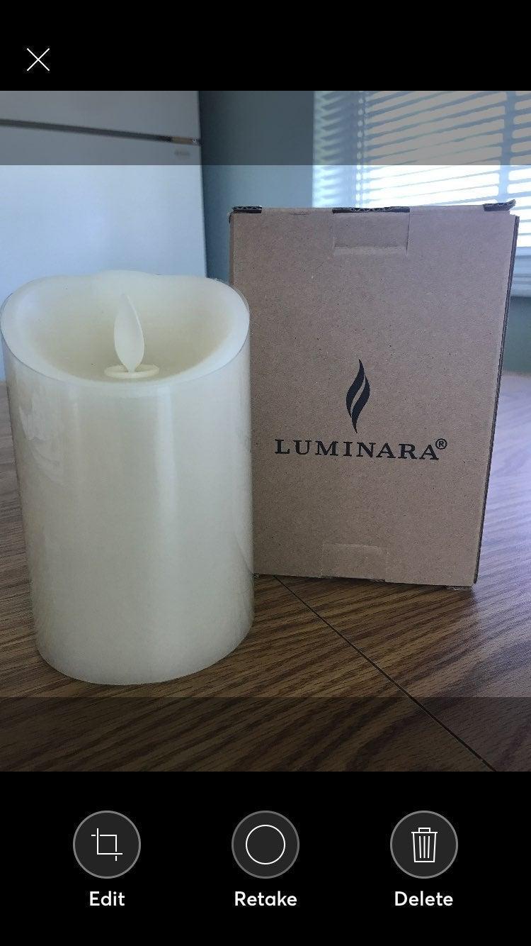 """Luminara 4"""" Ivory New"""