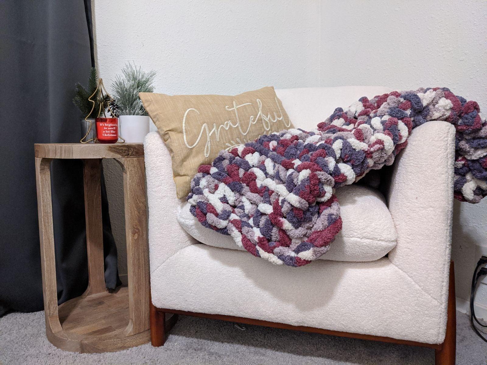 Handmade chunky baby blanket