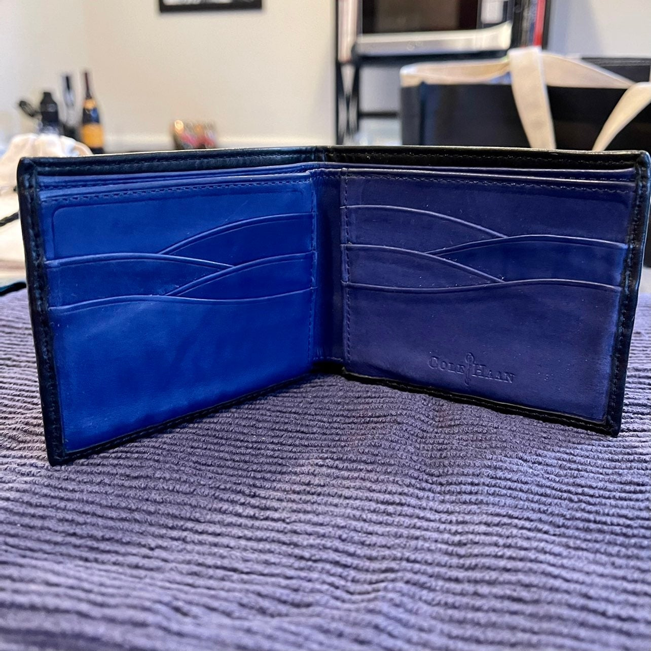 Cole Haan Contrast Leather Bifold Wallet