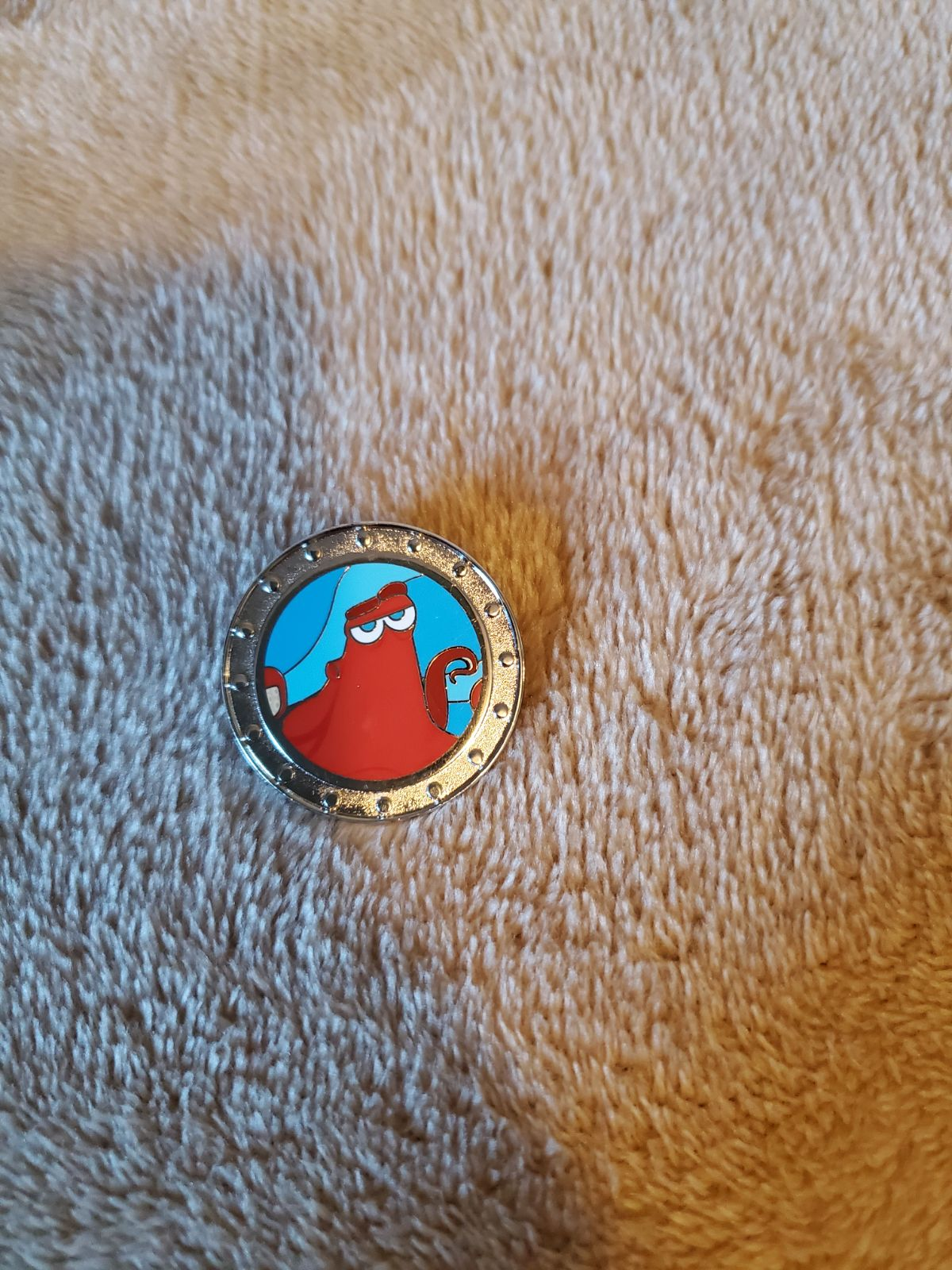 Hank Finding Dory Trading pin