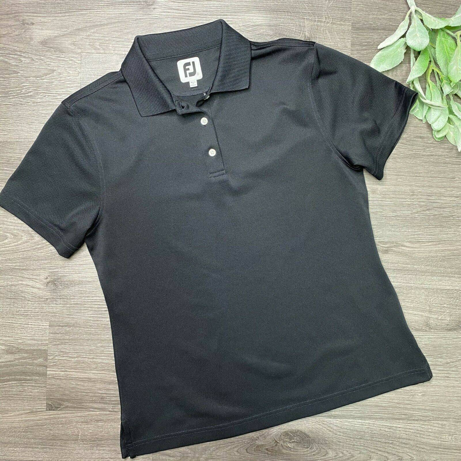 FOOTJOY sz M womens black golf polo