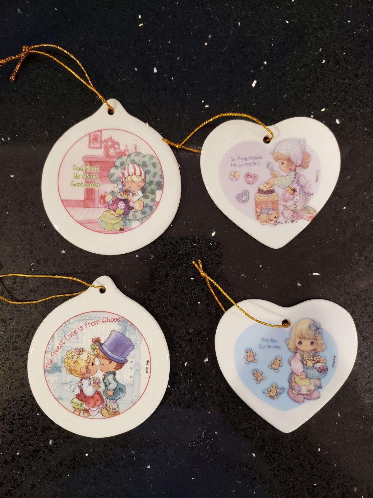 4 Precious Moments Ornaments