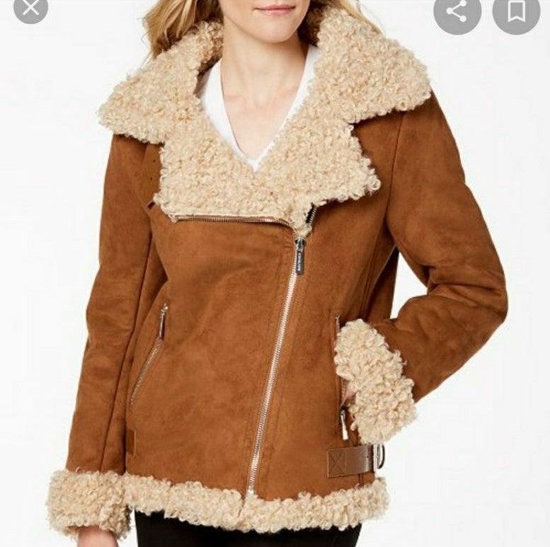 NWT Michael Cors Faux Fur Coat
