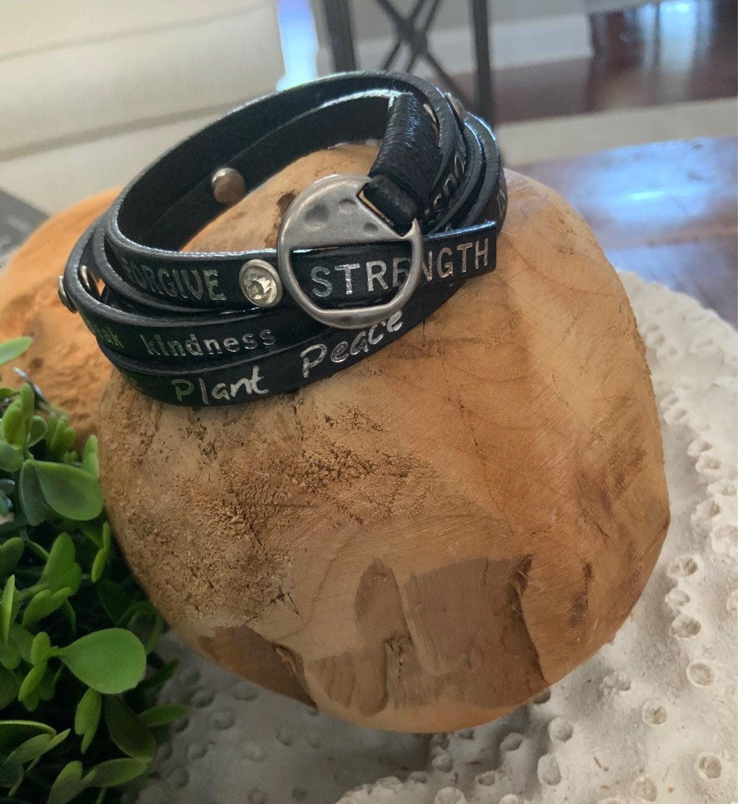 Bracelet leather wrap