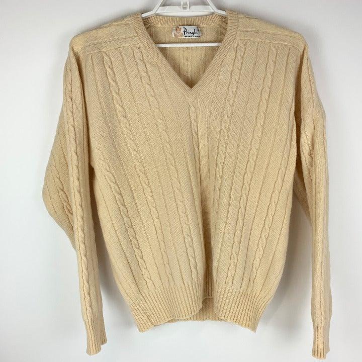 Pringle Mens Beige Sweater Scotland XL