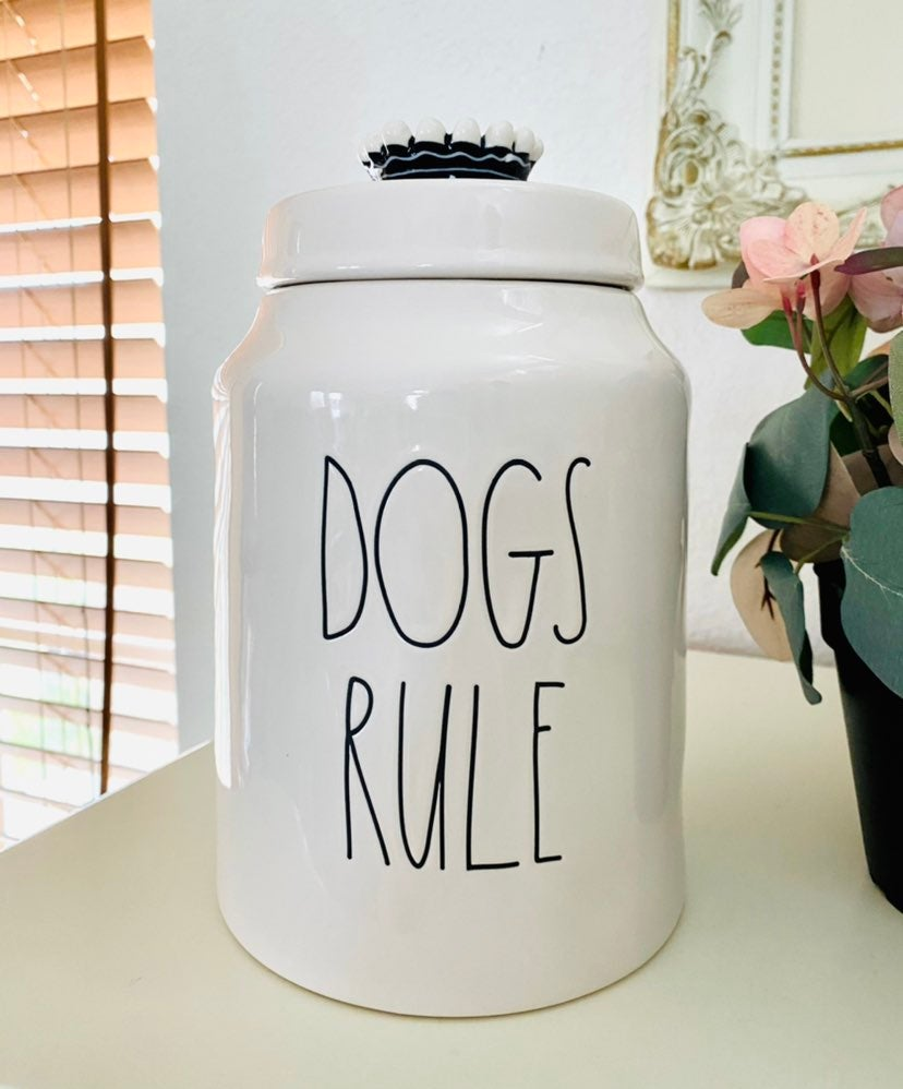 Rae Dunn Dog Rule Treats Canister