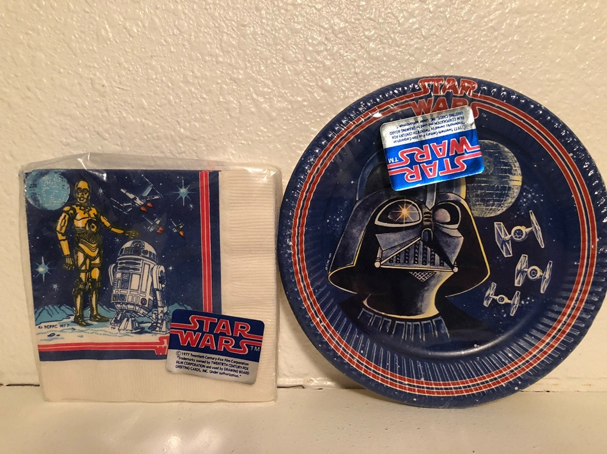 Star Wars vintage napkins & plates 1977