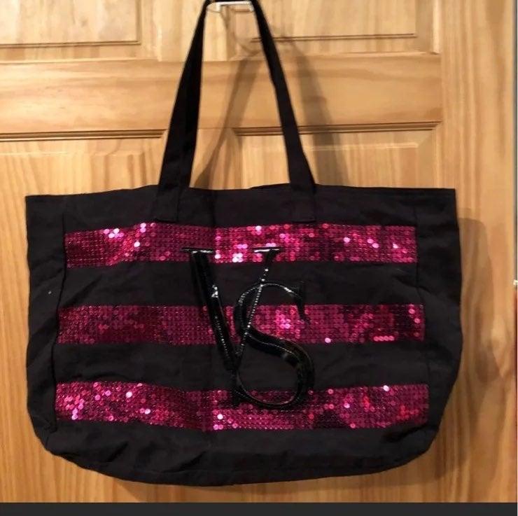 Victorias Secret Black and Pink Sequin W