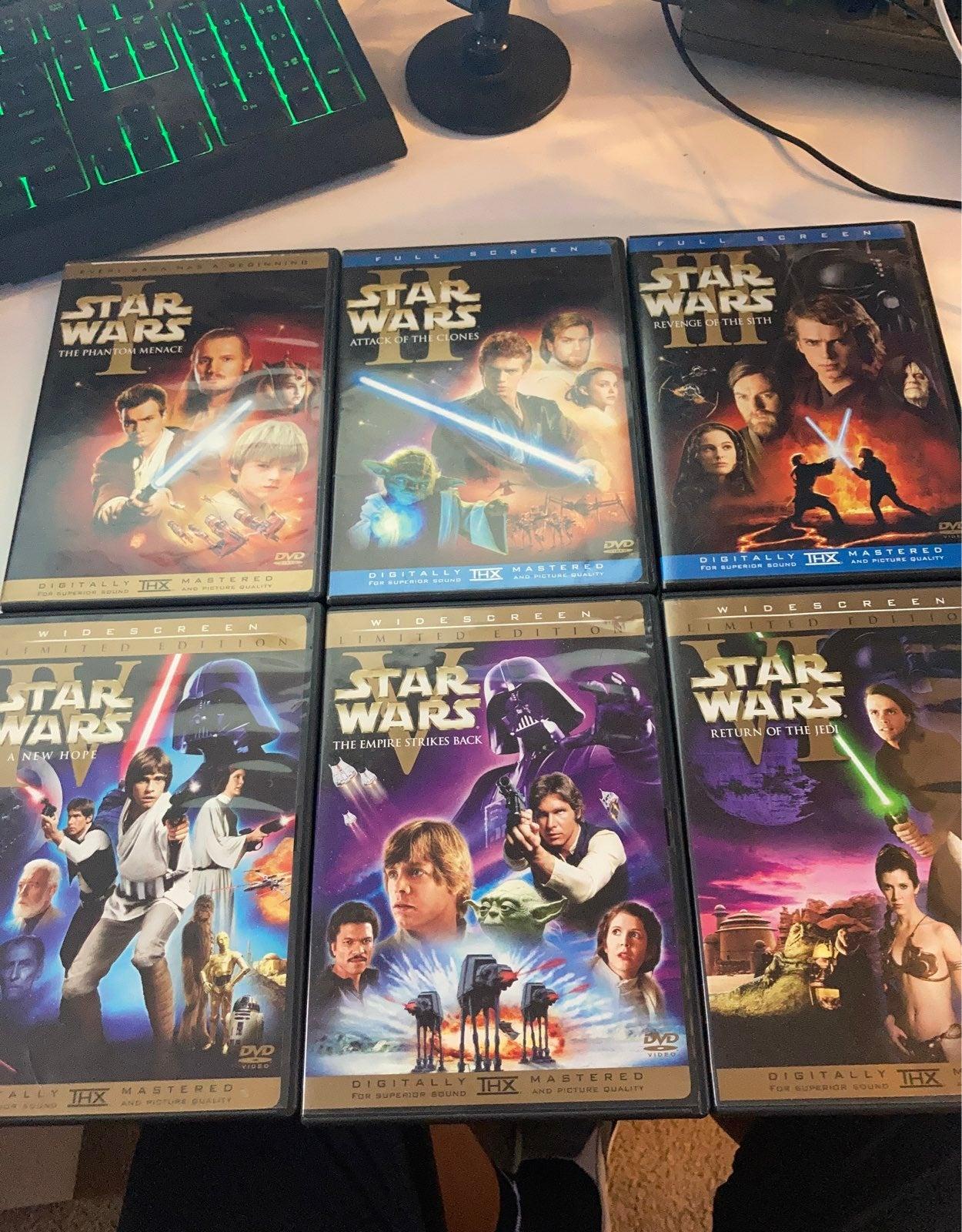 Star Wars DVD Movie episode 1-6