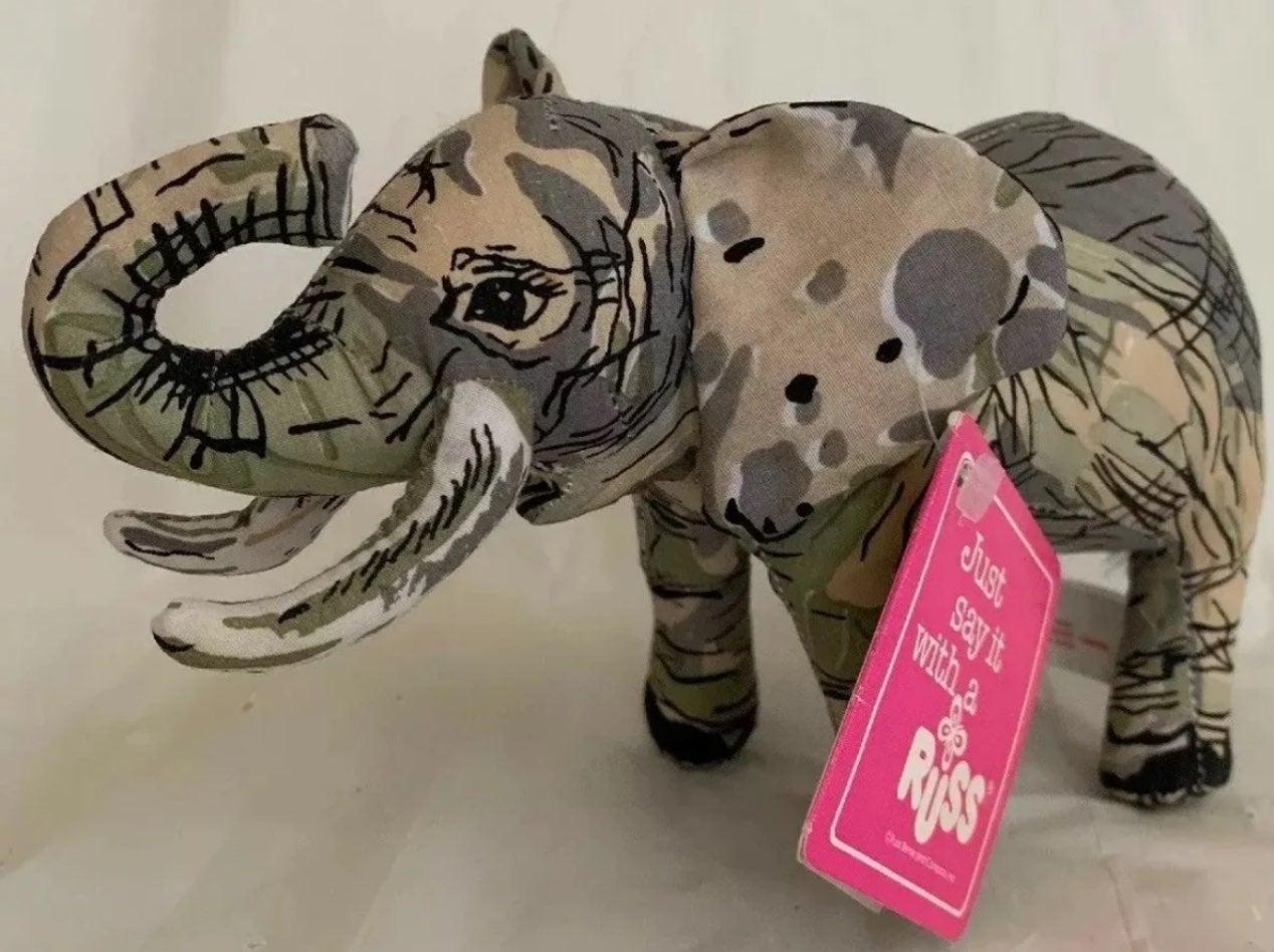 Russ Luv Pets Plush Print Cloth Elephant