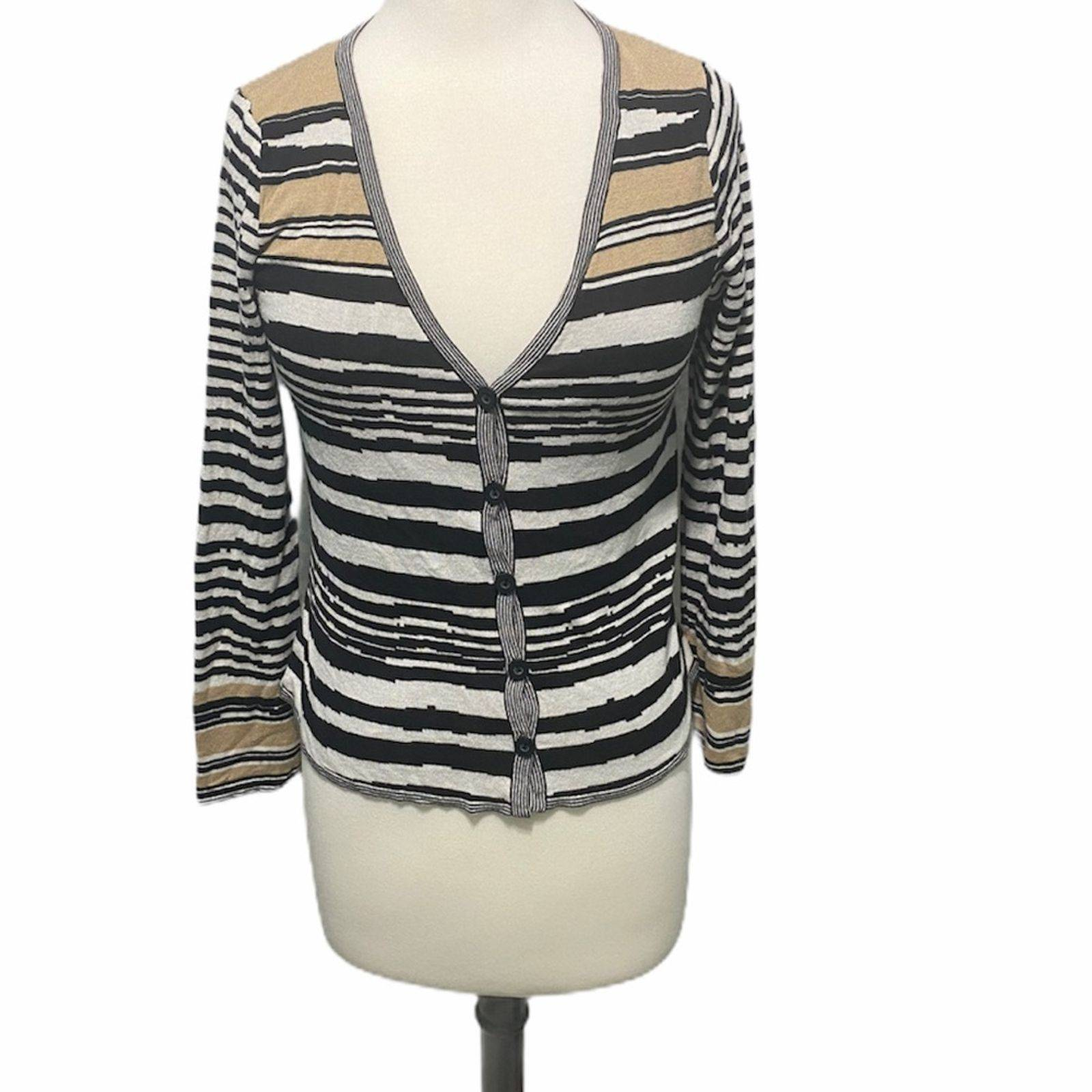 Apostrophe cardigan striped black white