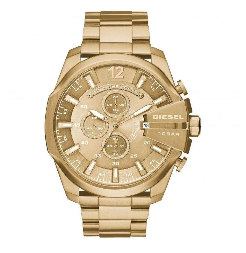 Mens gold diesel watch
