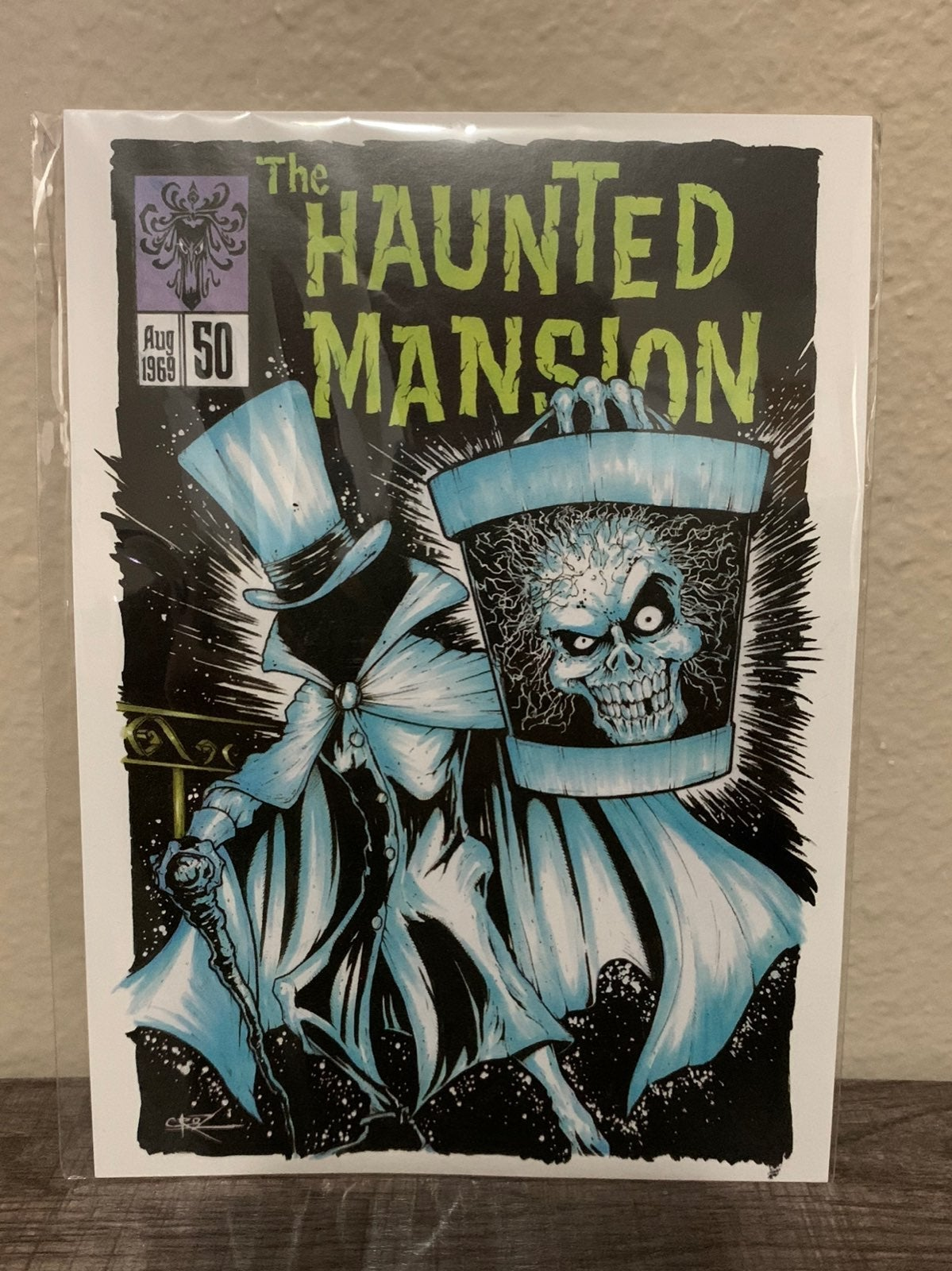 Disney Hatbox Ghost Postcard