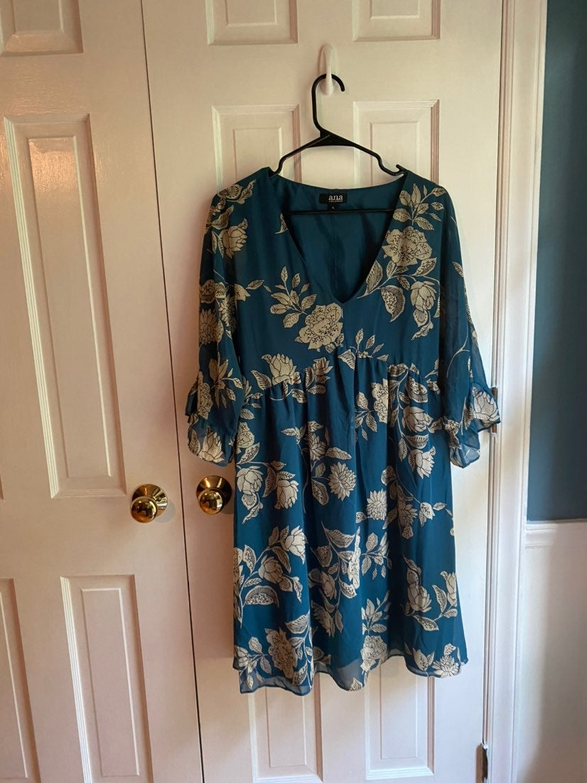 a.n.a Floral Print Dress