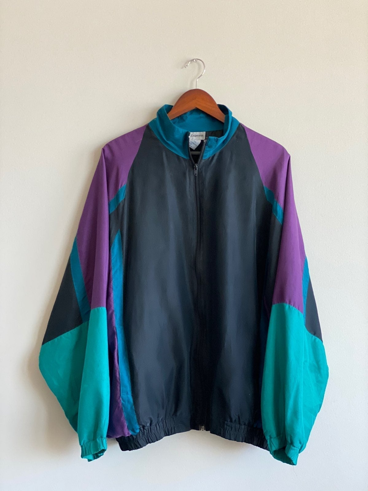 Vintage Silk Windbreaker Sz L