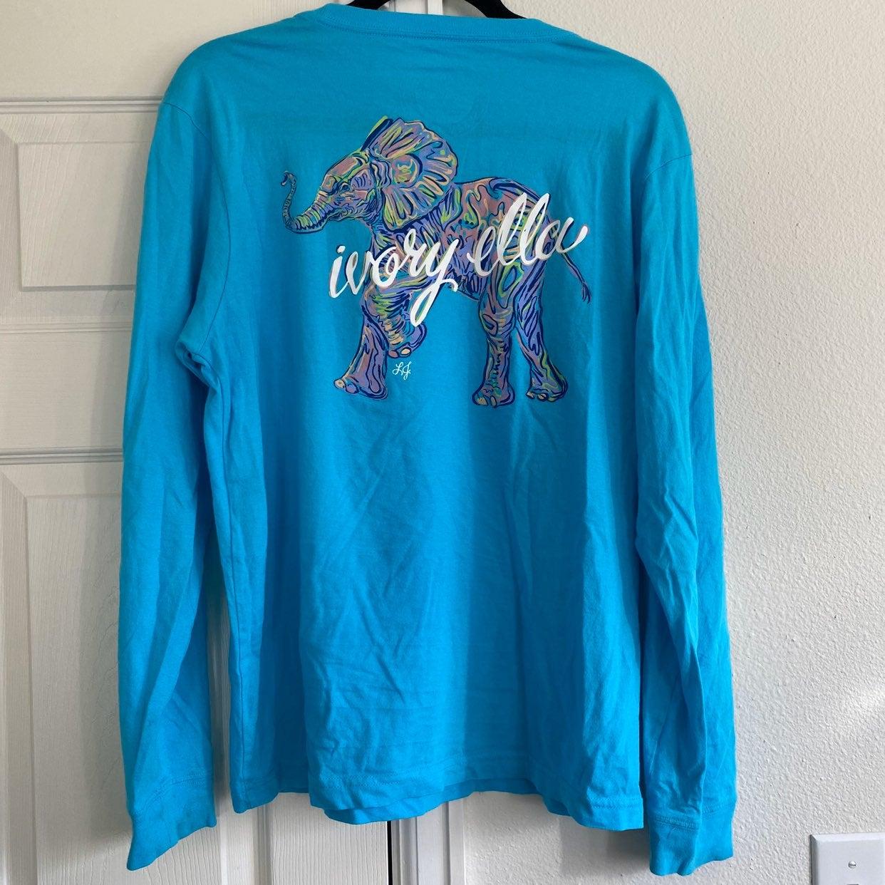 Ivory Ella blue long sleeve top