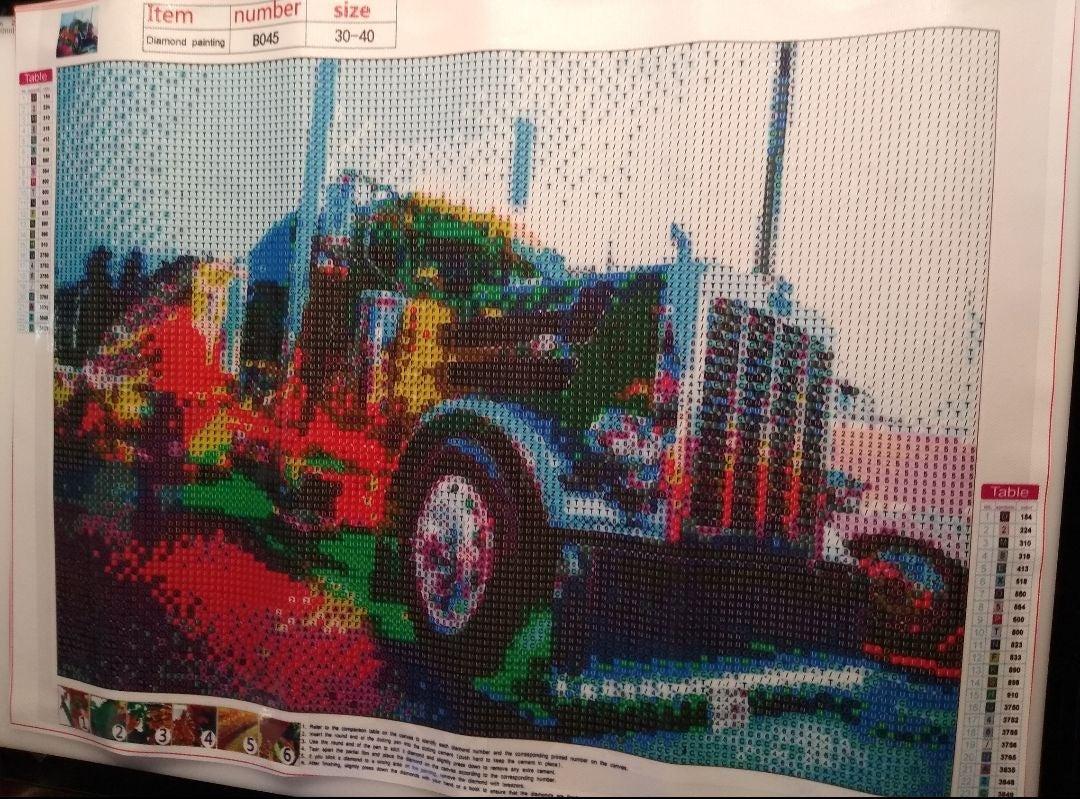 Semi Truck Diamond Art