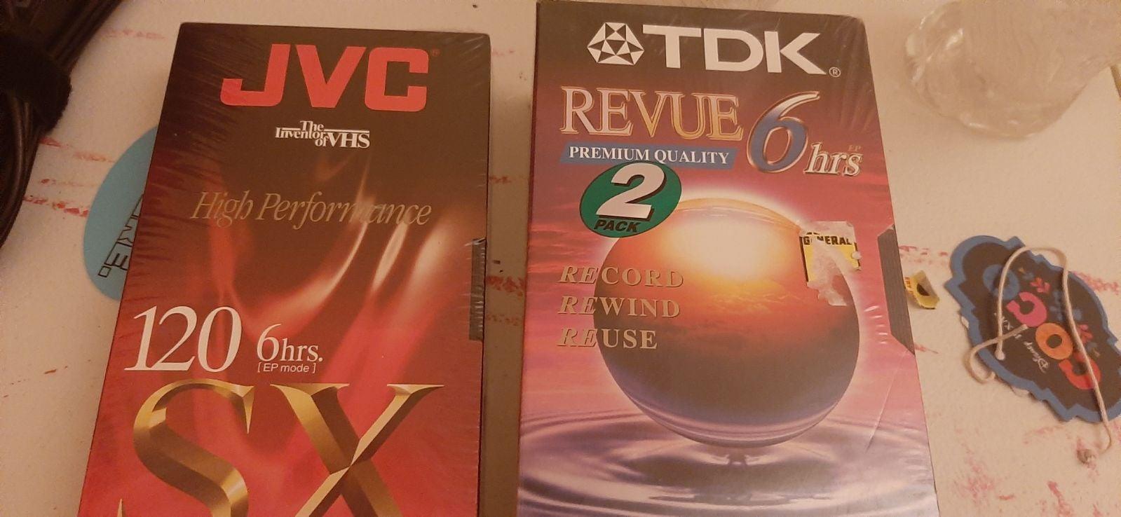 JVC & TDK vhs sealed