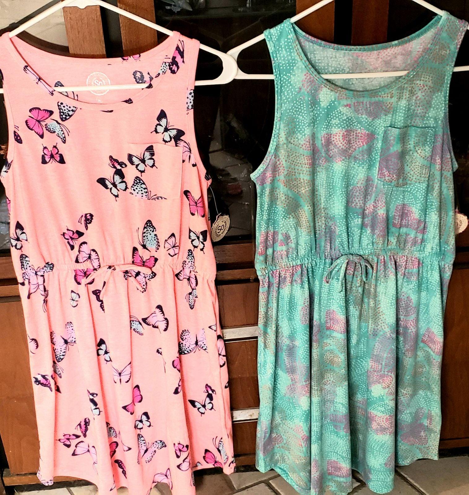 2 Girls Summer/Spring Dresses, Size 16 N