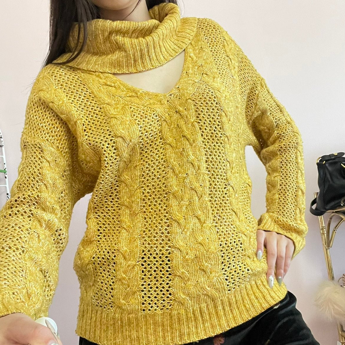 Urban Outfitters Women Yellow Pullover X